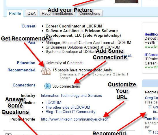 How a typical resume looks on LinkedIn.