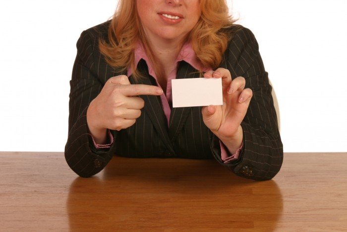 biz woman blank biz card