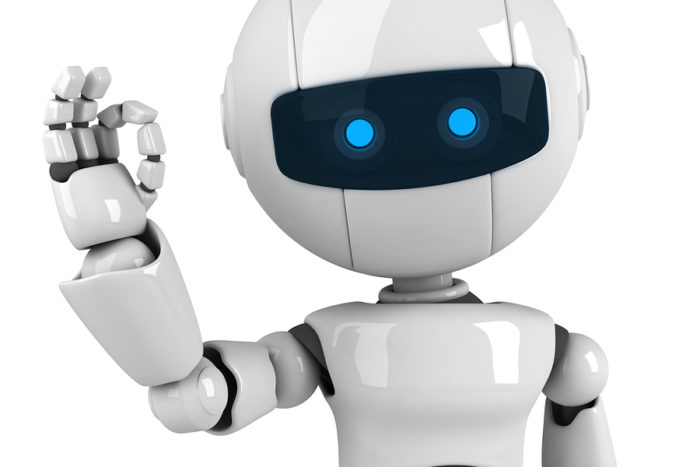bigstock-Funny-white-robot-stay-13402748