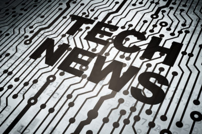 News concept: circuit board with Tech News