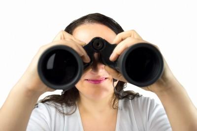 Looking searching binoculars