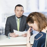 unhappy job interview