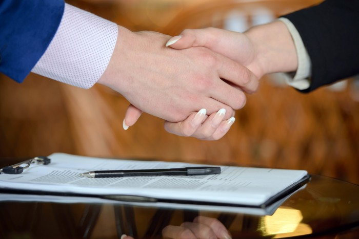 job offer acceptance handshake